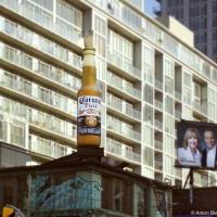 Corona beer bottle ad