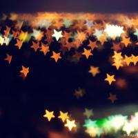 Night City View with stars shape Bokeh
