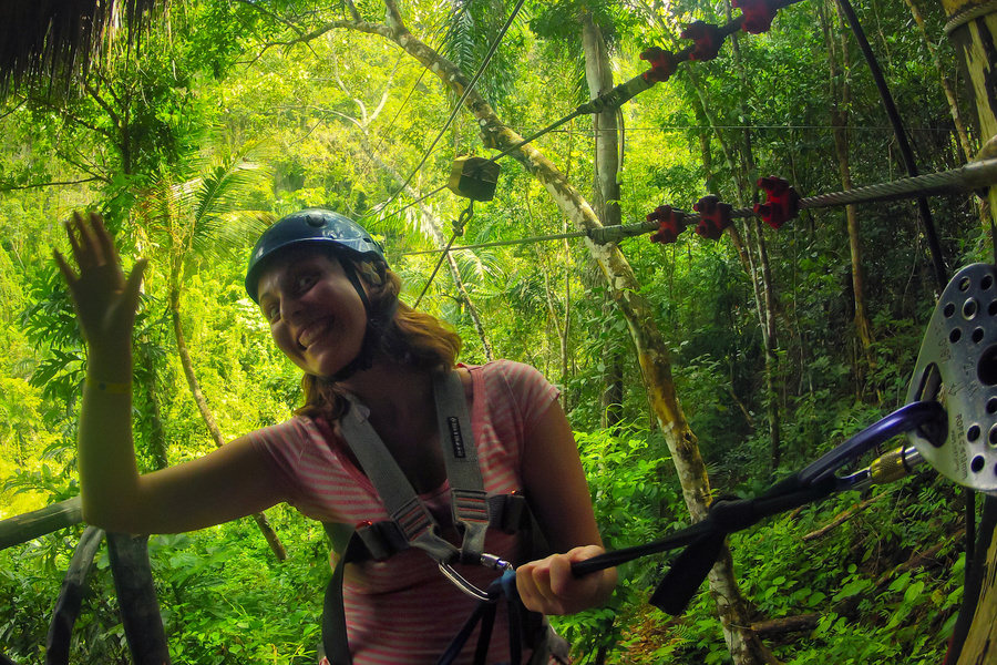 Zip-line in Dominican Republic