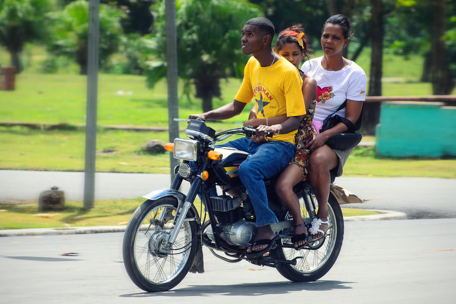 Dominican biking threesome