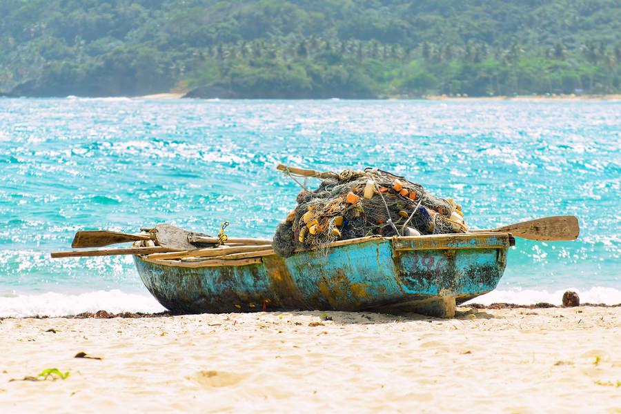 Fishing boat in Samana, Dominican Republic
