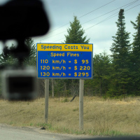 Canada freeway speed fines