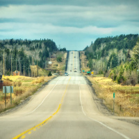 Trans-Canada Highway in Northern Ontario