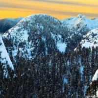 Вид с вершины Little Goat Mountain