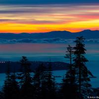 Закат на островом Ванкувер