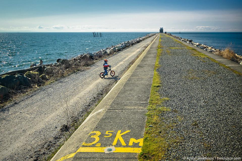 3.5 km mark n Iona Jetty trail