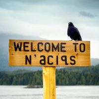 Welcome to N'aciqs' sign in Tofino