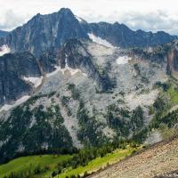 Castle Mountain as seen from Frosty Mountain Peak