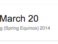 Я и сам это узнал случайно — из надписи в настенном календаре, дескать, с первым днем весны вас, 20 марта. Не верите мне и моему календарю — спросите у Гугла, что он думает по поводу «first day of spring»