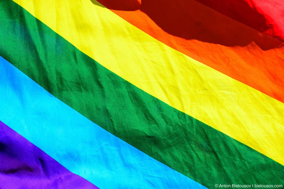LGBT Rainbow Flag — Vancouver Pride Parade, 2014