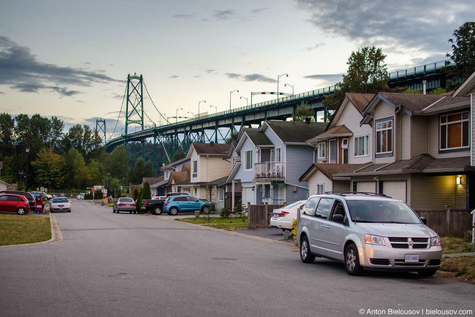 Xwemelch'stn Squamish Nation Reservation under Lions Gate Bridge (Vancouver, BC)