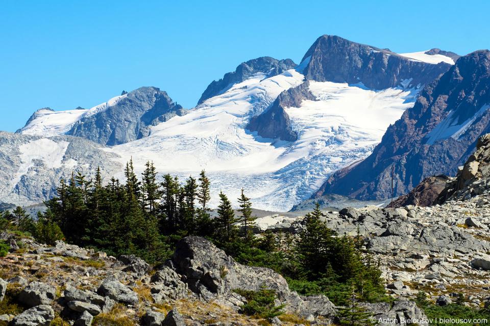 Вид на ледник, Whistler, BC