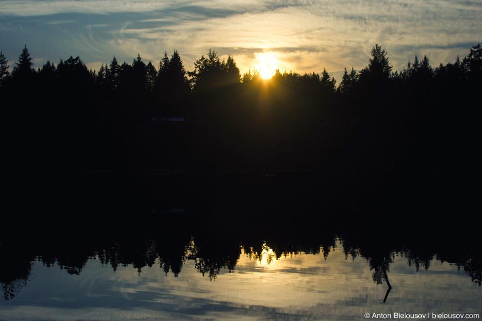 Ruby Lake Sunset (Sunshine Coast, BC)