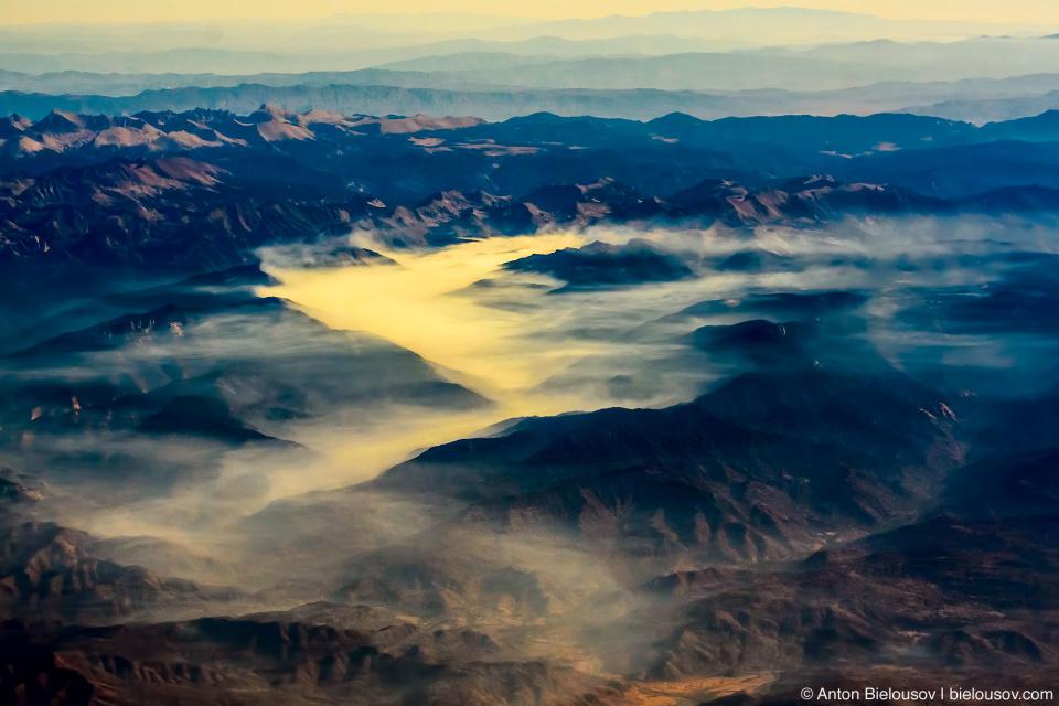 Туман в калифорнийских горах