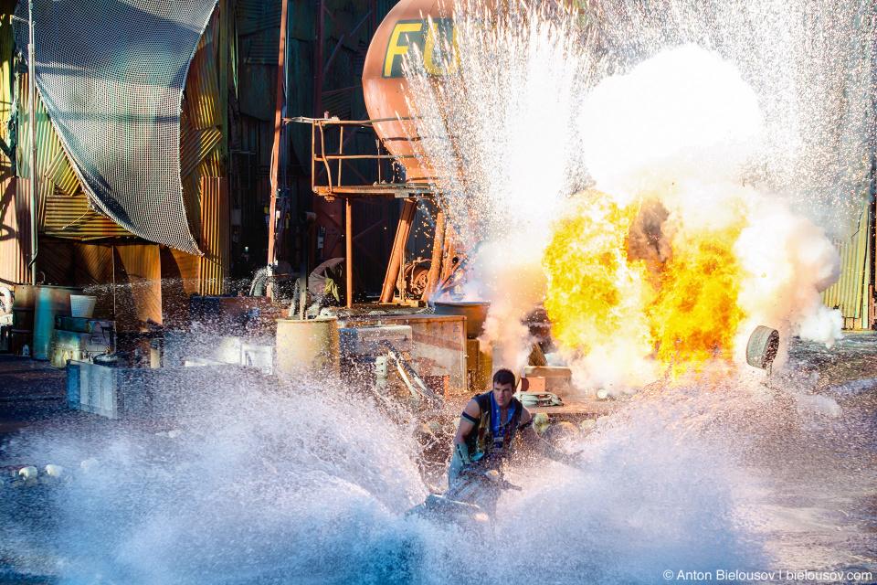 Water World Show at Universal Studios Backlot, Hollywood, CA