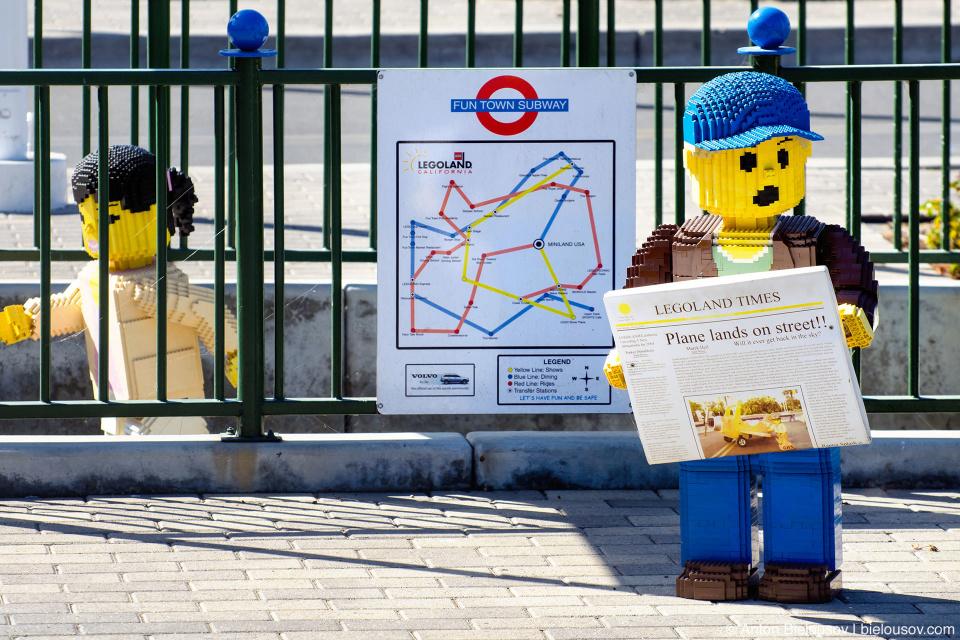 Legoland Freetown Subway Map — Carlsbad, CA