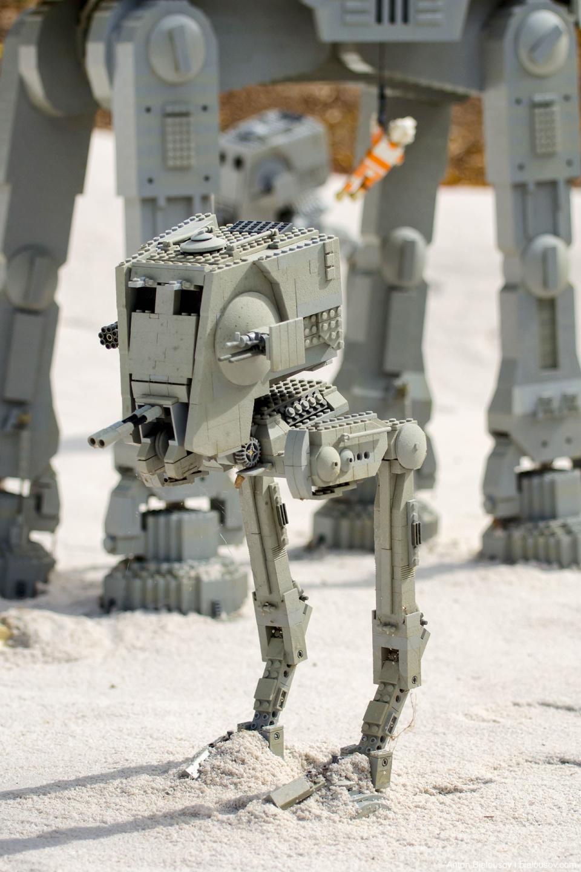 Lego Star Wars AT-ST in Legoland Miniland, California