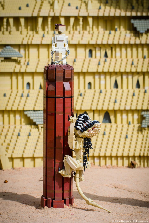 Lego Star Wars Coleseum scene in Legoland Miniland, California