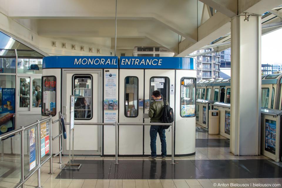 Касса при входе на станцию монорельса (Сиэтл)