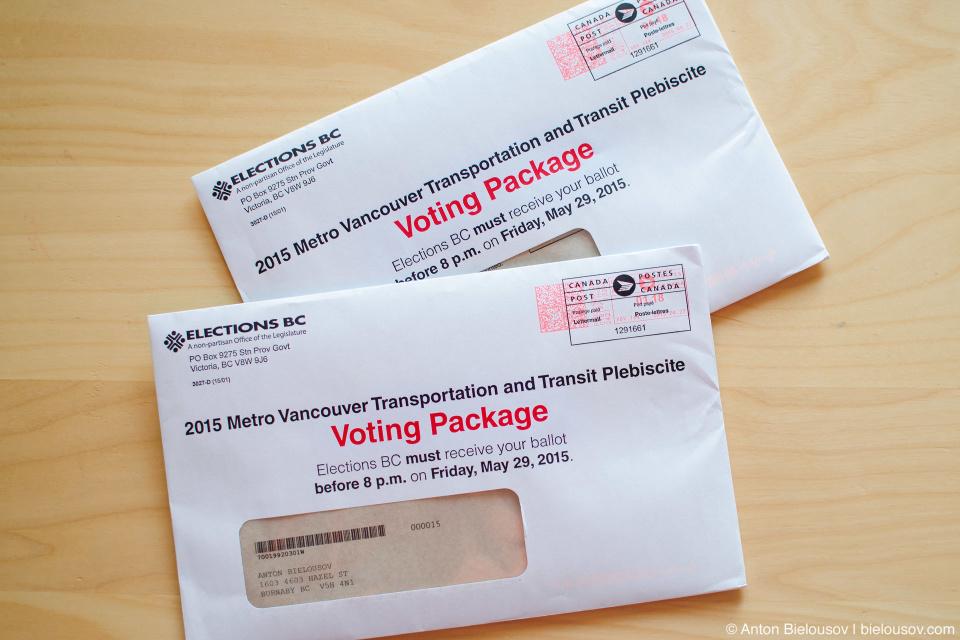 Metro Vancouver Transportation and Transit Plebiscite Voting Package