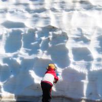 Но все равно неплохо, учитывая, что у нас в горах снега уже давно нет — месяц назад оставалось всего несколько сантиметров, до которых еще нужно было дойти.