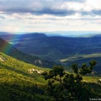 Радога с вершины горы Мангуп-Кале в Крыму