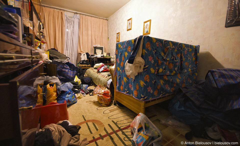 После продажи квартиры перед иммиграцией все вещи пришлось сложить в одной комнате