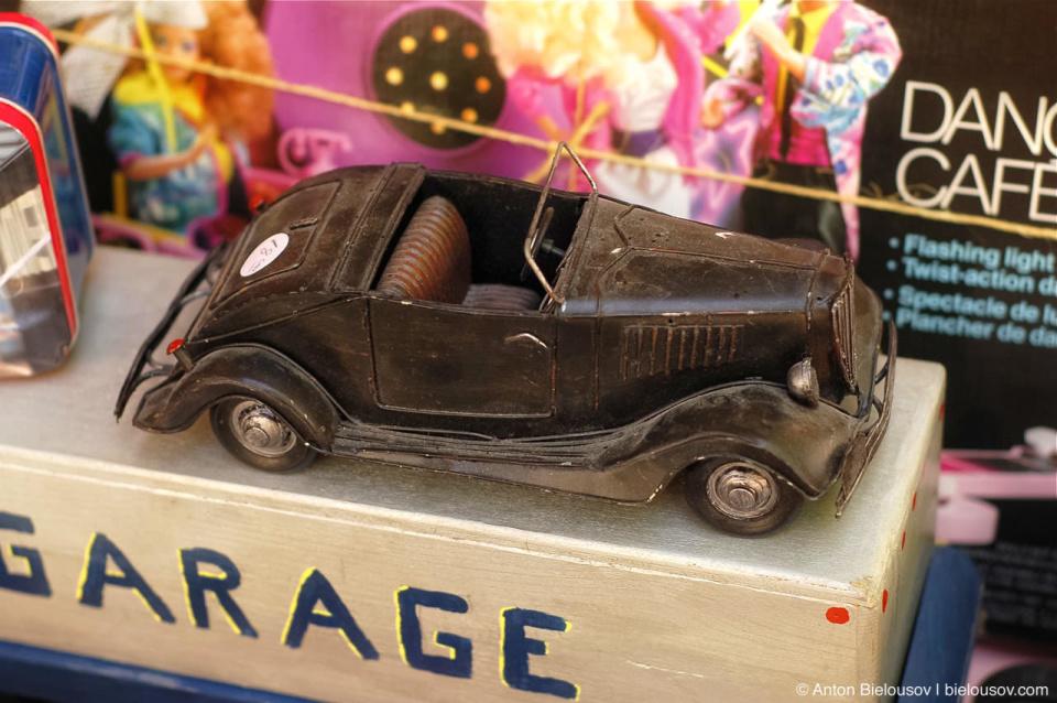 Vintage toy car at Toronto St. Lawrence Market