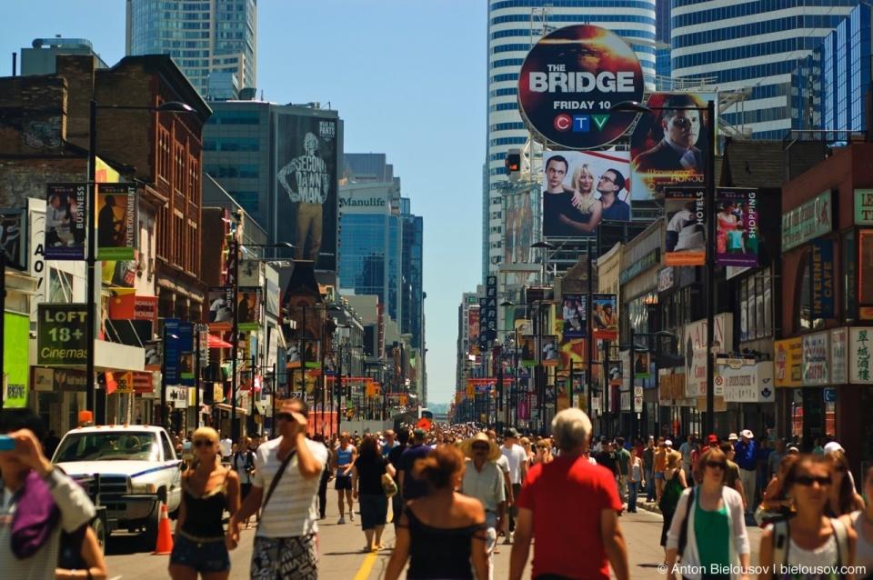 Yonge St. blocked for Toronto Pride Parade on July 4, 2010