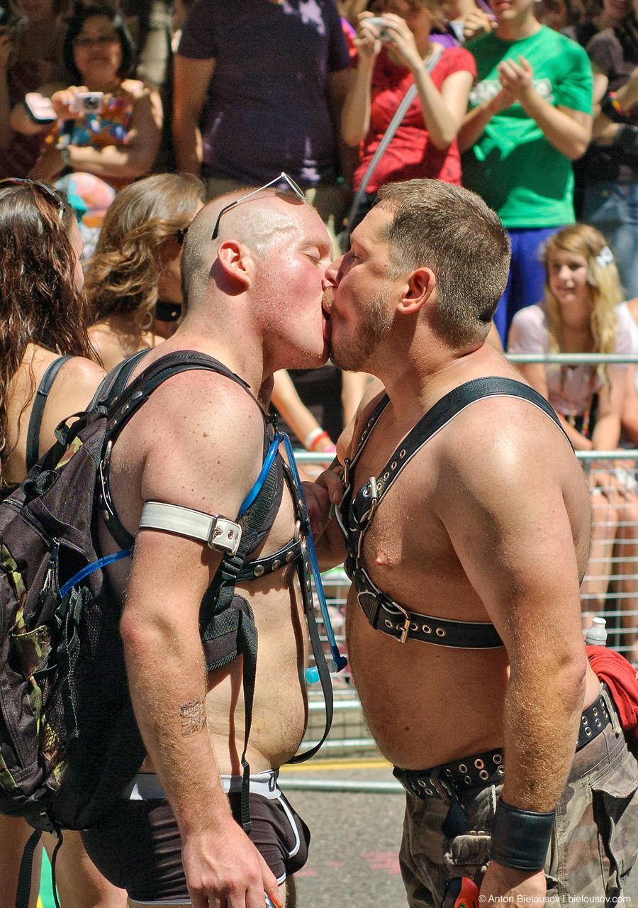 Gays Kiss at Toronto Pride Parade, 2010