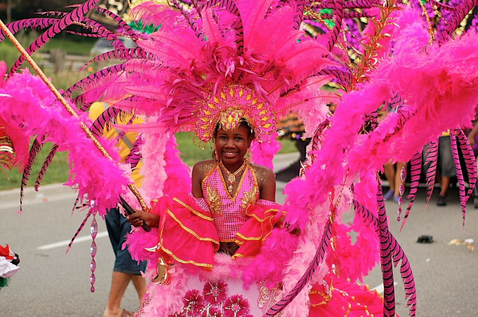 Toronto Caribana 2010 child pink costume