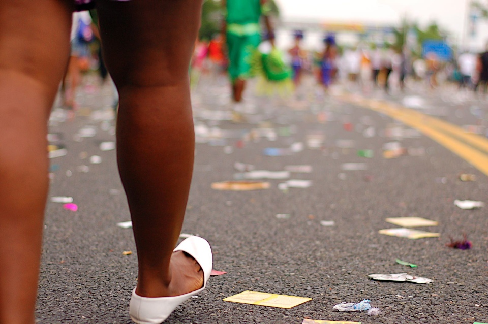Litter after Caribana parade in Toronto