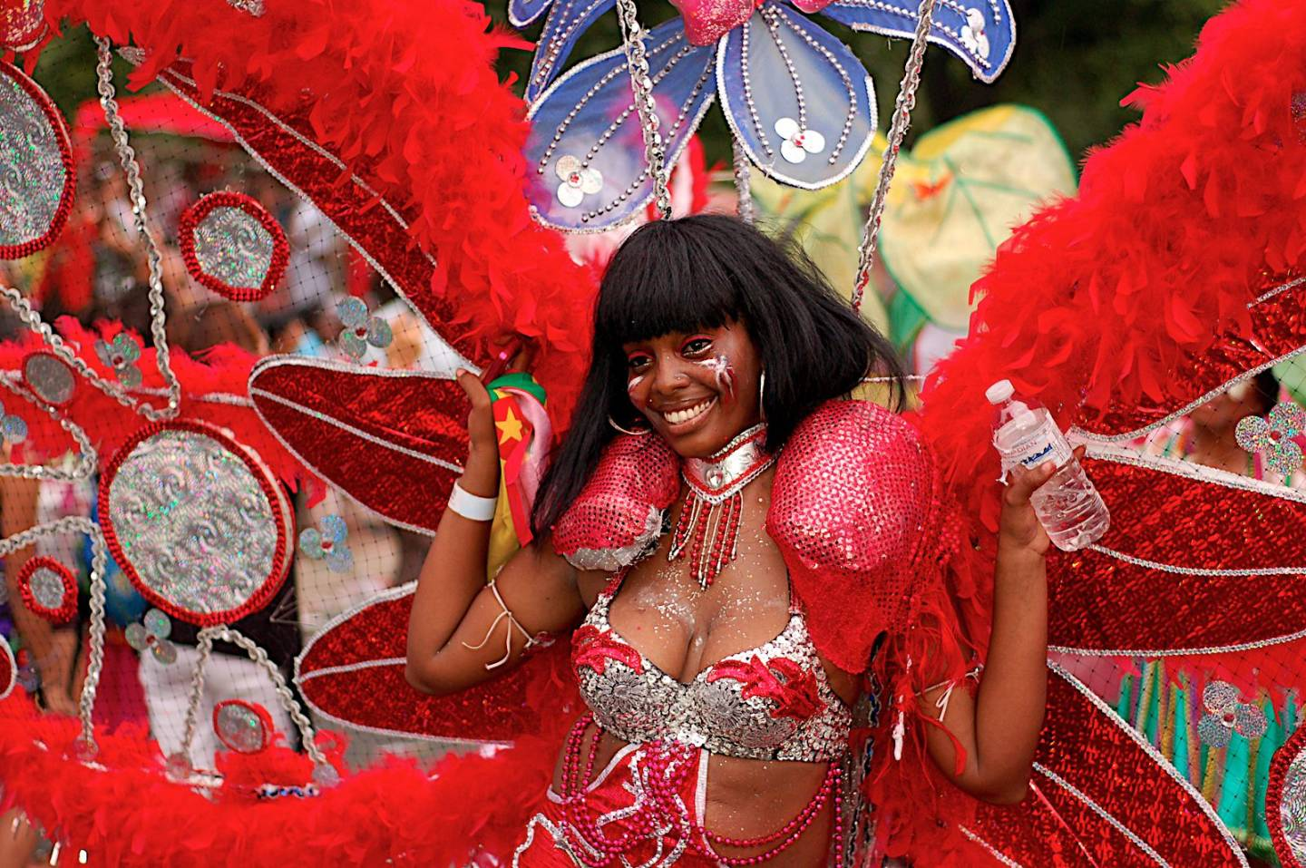 Toronto Caribana 2010 red butterfly costume