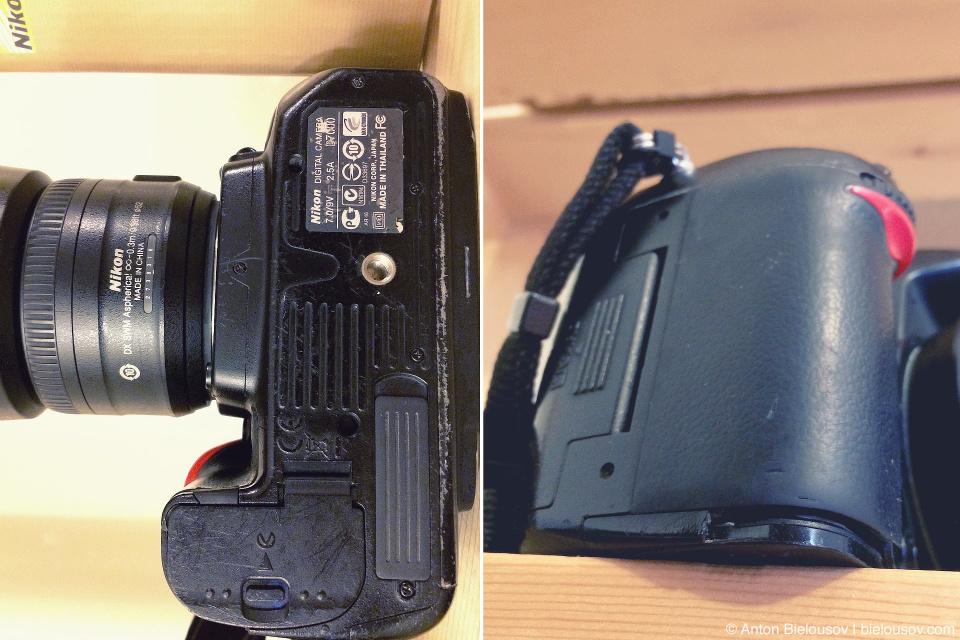 Потрепанный Nikon D7000 после 4 лет активного использования.