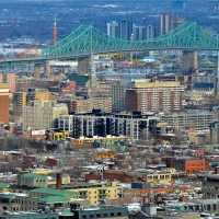 Montréal City Panorama with Tilt Shift from Monte Royal