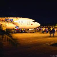 Sunwing airplane in Holguin airport