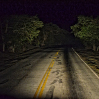 Cuban night road