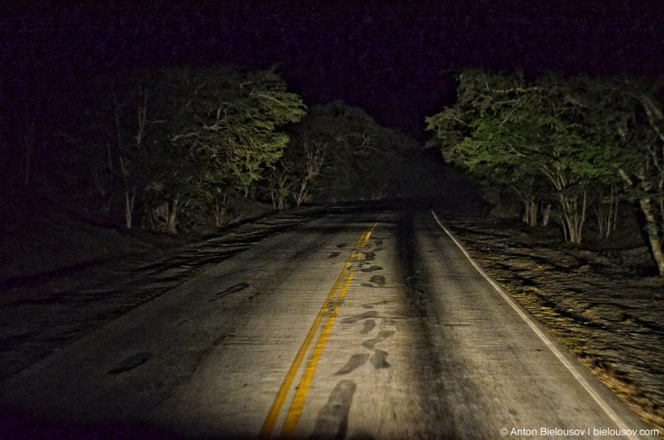 Cuban night road
