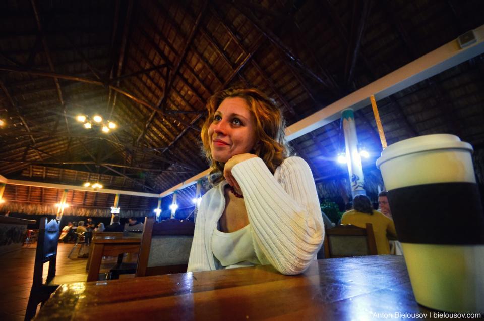 Viki in snack bar at Club Amigo Atlantico Guardalavaca Hotel