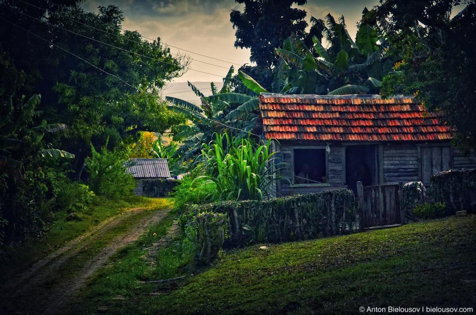 Cuban village house