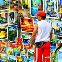 """Cuban """"russian"""" painting vendor"""