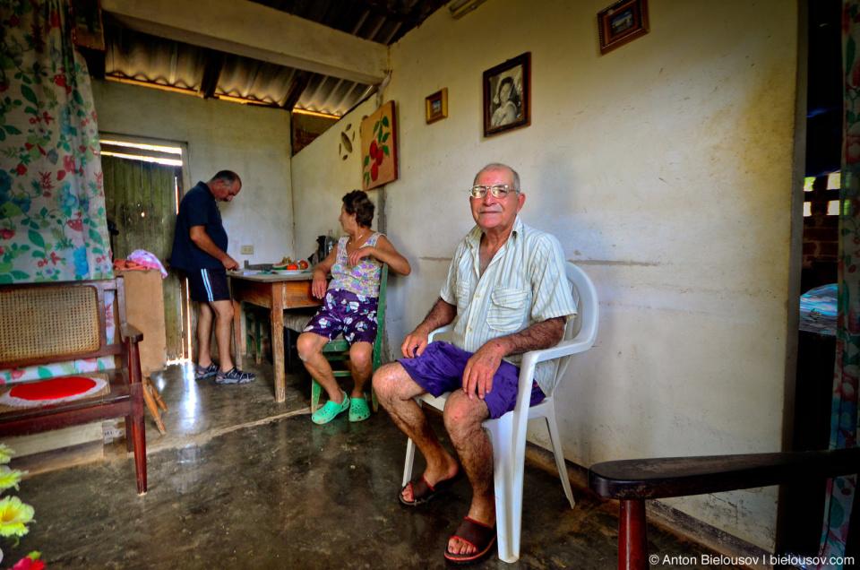 Cuban village house interior