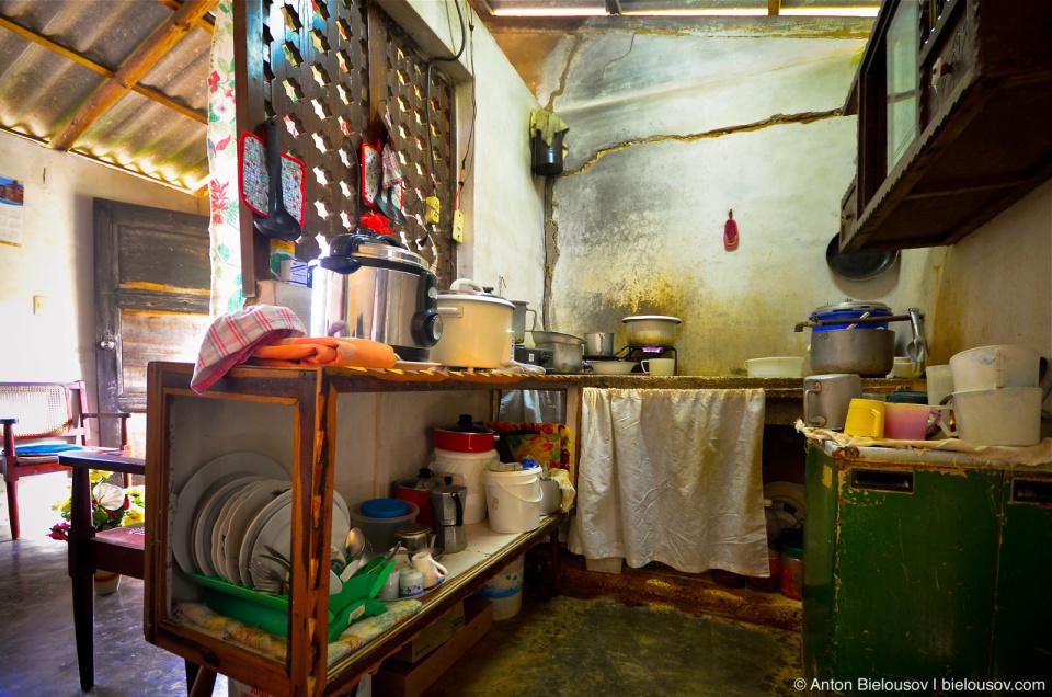 Cuban village house kitchen