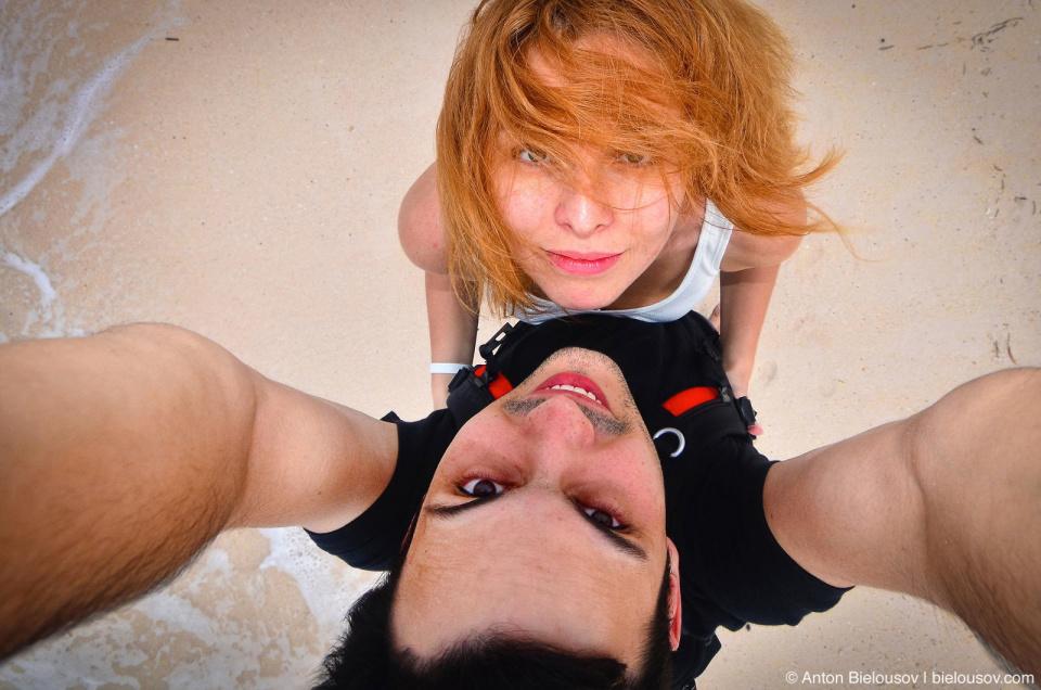 Viki and Me on a cuban beach