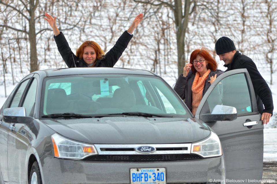 Ford Focus failed test drive to Niagara Falls