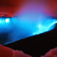 Niagara Falls winter night