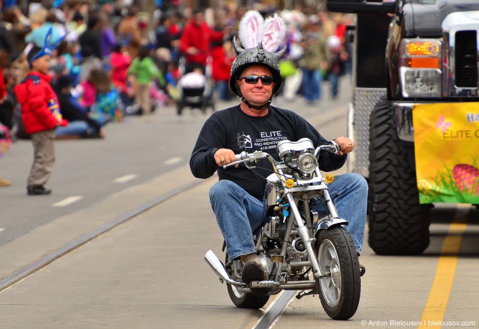 Bunny biker at Toronto Easter Parade