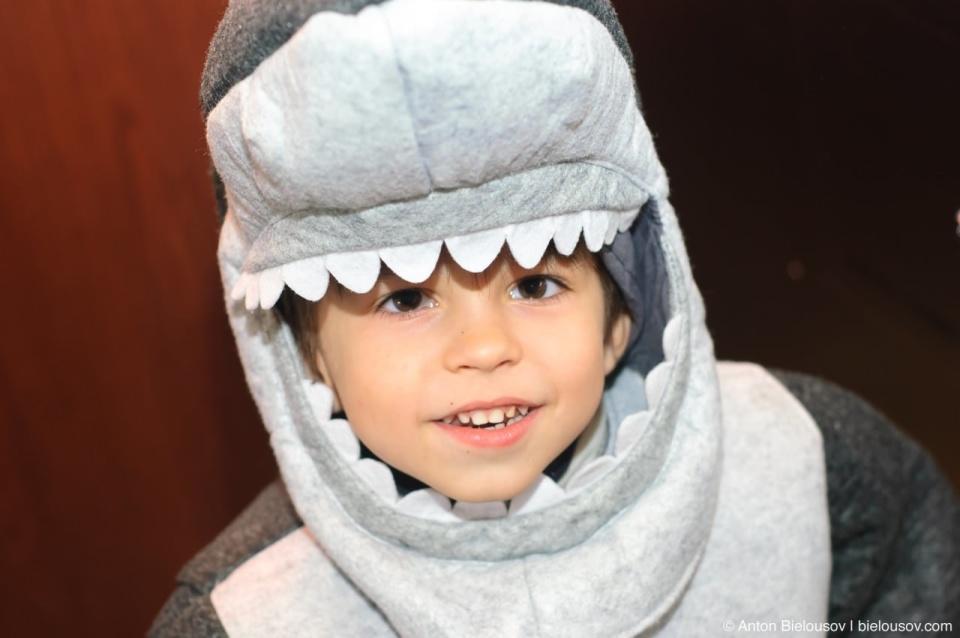 Halloween in Canada: shark costume