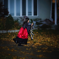 Halloween in Canada: witch costume for trick or treat