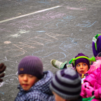 Children at the Santa Claus Parade, Toronto 2010